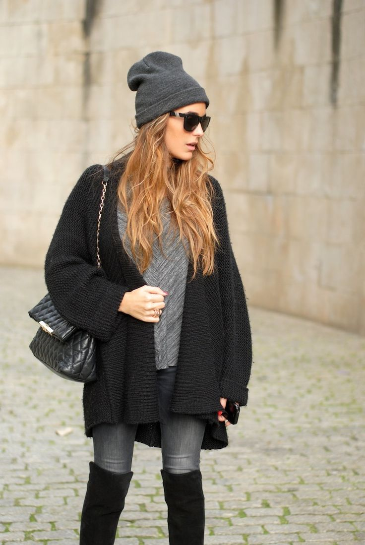 over knee boots outfit beanie soulcityguide. Black Bedroom Furniture Sets. Home Design Ideas