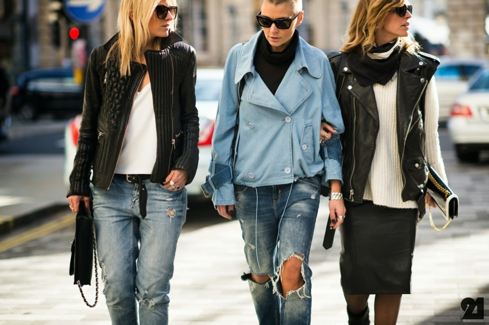 models off duty streetstyle biker jacket