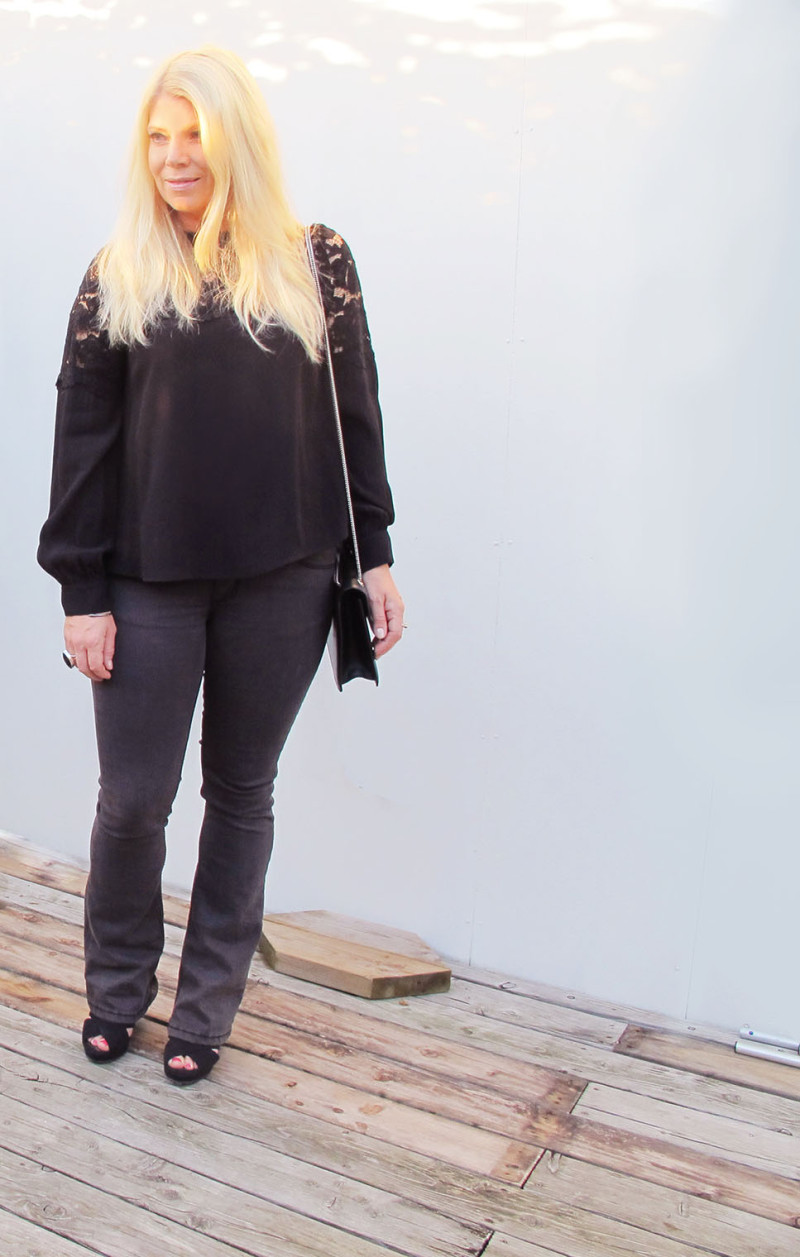 Black outfit from HM and Denim hunter