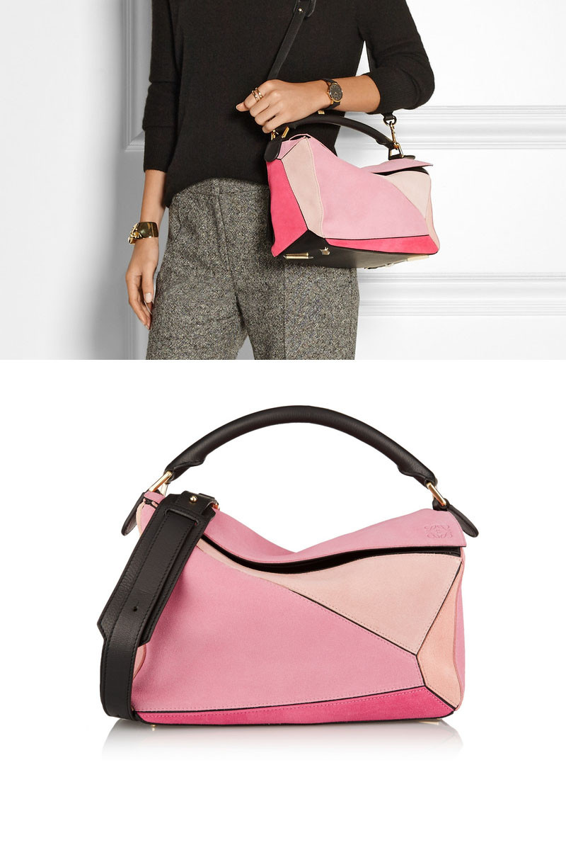 dream bag by loewe pink puzzle bag