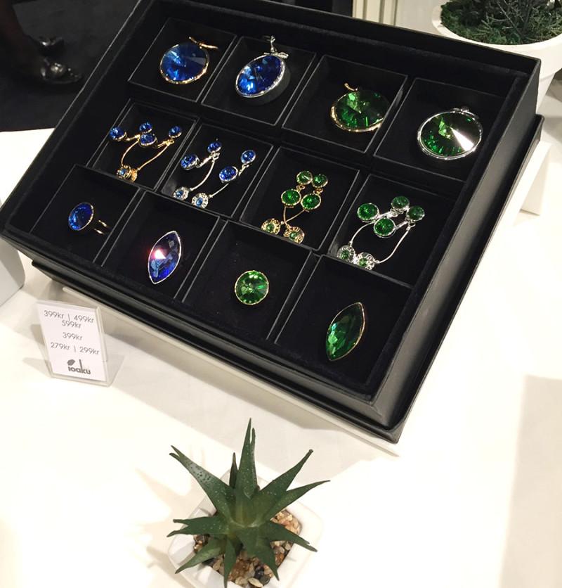 ioaku smycken grönt blått