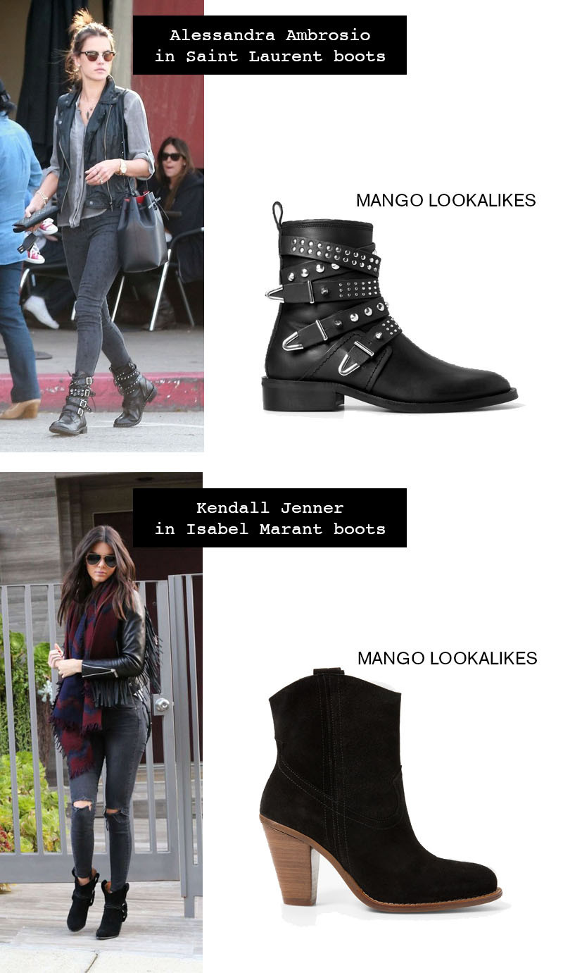 designer lookalikes boots from isabel marant and saint laurent
