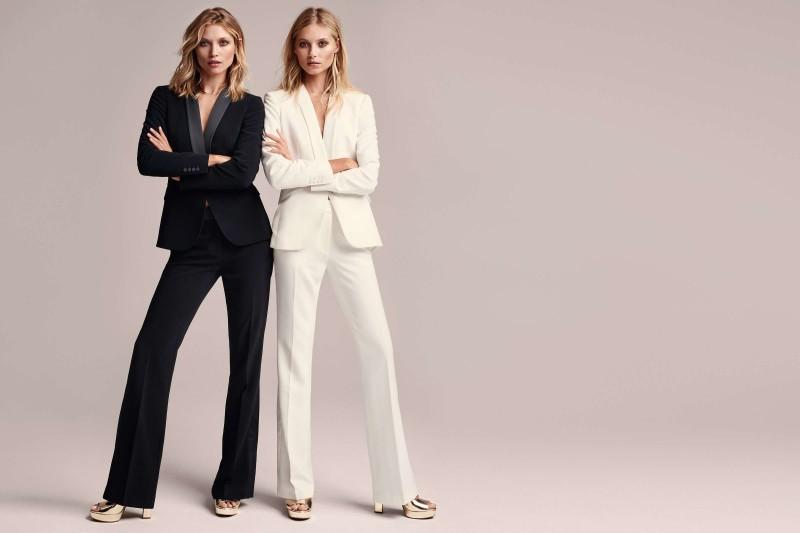 HM double trouble svart vit kostym